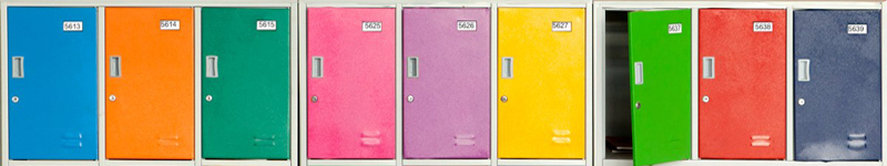 painted metal lockers