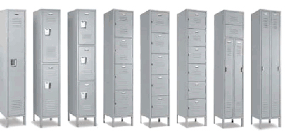 types of metal lockers